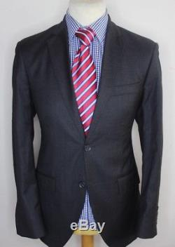 HACKETT LONDON LUXURY SUIT LORO PIANA SUPER 130S FABRIC GREY SLIM FIT 40x34x30
