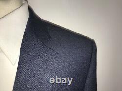 HACKETT Mens Slim Fit DARK BLUE WOOL SUIT 40 Reg W34 L30 GORGEOUS