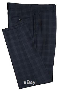Holland Esquire Bnwt Mens Blue Pow Check 3 Piece Slim Fit Suit Uk 40r W34 X L33