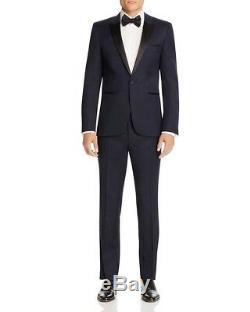 HUGO BOSS 134920 Men's Dark Blue Virgin Woo Slim Fit'Aylor' Jacket Sz 36R