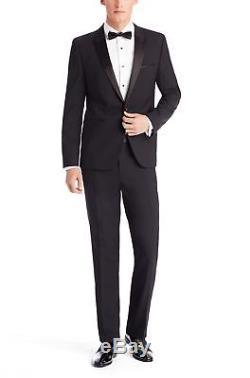HUGO BOSS 134935 Men's Black'Aylor' Stretch Wool Slim Fit Tuxedo Jacket Sz 38 S