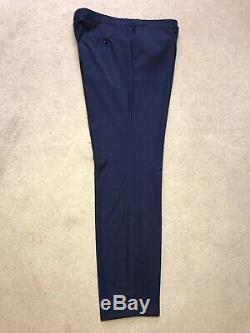 HUGO BOSS 3 PIECE Slim Fit BLUE Super 160s WOOL SUIT UK 48 Reg W40 L32