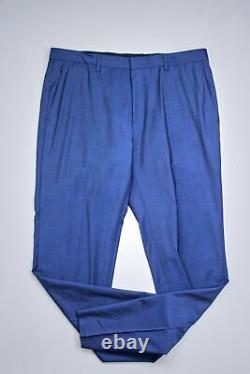 HUGO BOSS Huge/Genius Twill Solid Slim Fit Suit 42S / 36W Blue