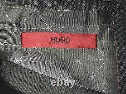 HUGO BOSS Mens Slim Fit DARK GREY WOOL SUIT 40 Reg W34 L30 -GORGEOUS