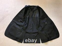 HUGO BOSS Mens Slim Fit Plain BLACK WOOL SUIT 42 Long W36 L34 GORGEOUS