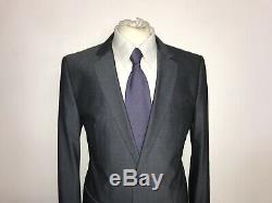 HUGO BOSS Mens Tailored Fit BLUE GREY WOOL SUIT 40 Short W34 L30 -GORGEOUS