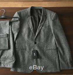 HUGO BOSS RIVER/WINDOR 50274721 Stretch Wool Slim Fit Anzug Suit Gr. 50 Neu