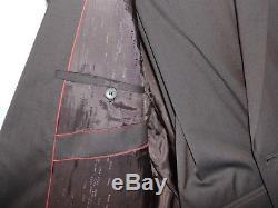 HUGO BOSS Slim Fit AMARO / HEISE Dark Brown Red Label Suit Virgin Wool 40R 50