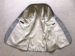 HUGO BOSS Tailored Fit BEIGE SILK & WOOL SUIT 38 Reg W32 L32 WORN TWICE