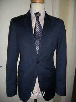 Hackett Super fabric Contrast Windowpane Slim fit Suit Size UK 42LEUR 52Lw36