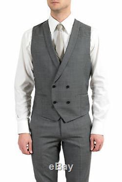 Hugo Boss Admon/Wilms/Hesten Men's Gray Wool Extra Slim Fit Three Piece Suit