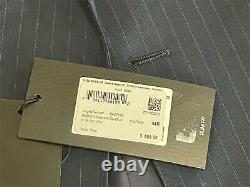 Hugo Boss Huge6/Genius5 Slim Fit Navy Striped Wool Suit 44R / 38W Blue 2020