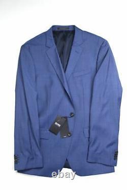 Hugo Boss Huge6/Genius5 Slim Fit Solid Blue Wool Suit 42R / 36W Blue 2020