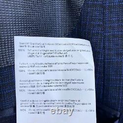 Hugo Boss Hutson5/Gander3 3 Pc. Suit Slim Fit Wool Men's 40L/34W Blue Check