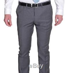 Hugo Boss Inwood/Winfield 1 Slim Fit Gray Striped Two Button Wool Suit