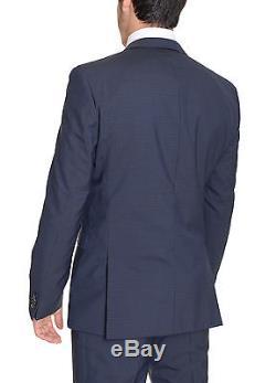 Hugo Boss Inwood2/Winfield2 Slim Fit 40R 50 Blue Check Super 100 Wool Suit