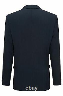 Hugo Boss Men's'Arti/Hesten' Dark Blue Extra Slim Fit Virgin Wool Suit 44R