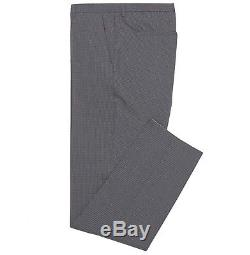 Hugo Boss Men's'Halsey/Merrill' Grey Slim Fit Checkered Italian Wool Suit 38R