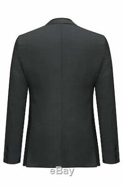 Hugo Boss Men's'Phil/Taylor' Extra Slim Fit Black Textured 3-Piece Suit 40R