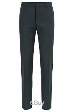 Hugo Boss Men's'Reasen/Willot' Dark Green Extra Slim Fit Wool Blend Suit 38R