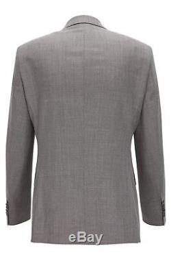 Hugo Boss Men's'T-Harver/Glover' Slim Fit Wool Silk Grey Suit, Size 38R