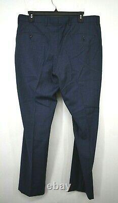 Hugo Boss Mens Blue Notch Lapel Two Button Virgin Wool Slim Fit Suit Set 40R