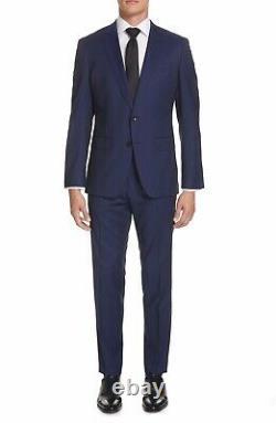 Hugo Boss Mens Huge6/Genius5 Slim Fit Suit Size J 40R/ P 42R Blue (104)