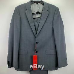 Hugo Boss Mens Slim Fit 2-Piece Suit Gray 38R 32W