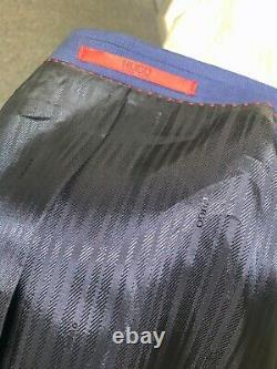 Hugo Boss Navy 2pc Suit Slim Fit Super 100s Size 44l Trs W40l Bnwt