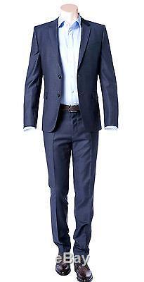 Hugo Boss Slim Fit 2 Piece Men's Suit Wool Astian/Hets 50321255 423 Blue Check