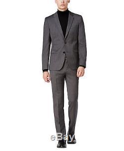 Hugo Boss Slim Fit Men's Wool Suit Melange Herringbone Astian/Hets 50320621 033