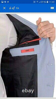 Hugo boss suit Arti Heggins slim fit jacket 38R trousers 32x32 freshly laundered