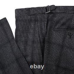 Isaia Slim-Fit'Capri' Gray and Black Shadow Check Wool Suit 36R (Eu 46)