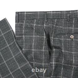 Isaia Slim-Fit'Capri' Layered Check Super 140s Wool Suit 38R (Eu 48) Peak Lapel