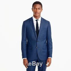 J CREW 40S Ludlow Slim-fit Suit Jacket Italian Worsted Wool Atlantic Blue G1109