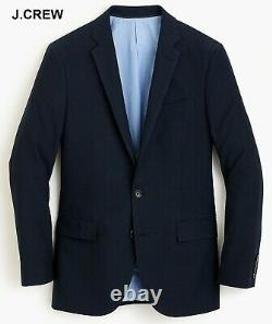 J. CREW Ludlow 38R blazer navy blue cotton slim-fit 38 R suit jacket sport coat