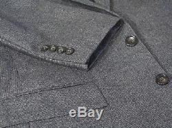 J CREW Ludlow Full Suit 38S Charcoal Gray 2 Btn Italian Wool Side Vents Slim Fit