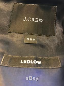 J. CREW Ludlow Slim Fit Suits 36S Grey Worsted Wool and Navy Italian Chino