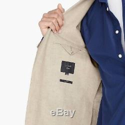 J CREW Ludlow Slim Fit Unstructured Linen Suit Coat Blazer Mushroom 34S F0127