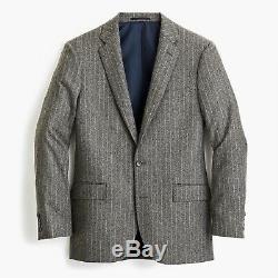 J CREW Ludlow Slim-fit Chalk-Stripe Italian wool blend Suit 42R 32x32 or 36x32