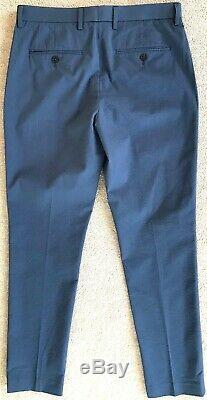J. CREW MENS BLUE SEERSUCKER SLIM FIT SUIT NWT! 36S 30 x 30 L1077