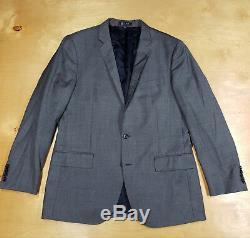 J Crew Ludlow Charcoal Gray Italian Wool w Pickstitchin 2 Btn Slim Fit Suit 42R