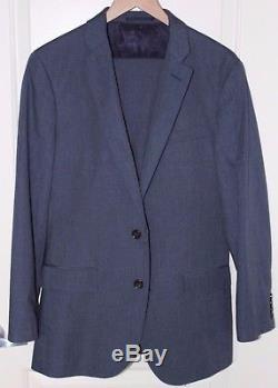 J Crew Ludlow Dark Charcoal Blue Slim Fit Suit Jacket & Pants 38R / 31W