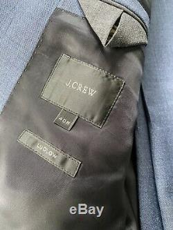 J Crew Ludlow Slim Fit Suit Jacket with Double Vent in Italian Worsted Wool 40R