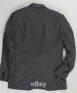 J Crew Ludlow Slim Fit Vitale Barberis Canonico Flannel Wool Suit 38R 31x32