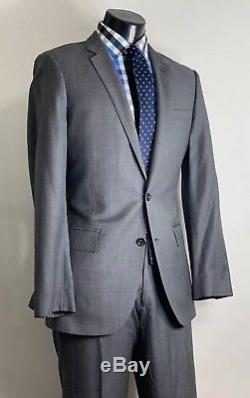J Crew Ludlow Slim Fit Wool Gray Suit 40 R Flat Fronted 34 X 30