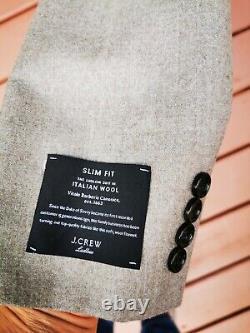 J. Crew Men's Light Brown Ludlow Slim Fit Suit 40S 32X32