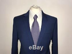 JAEGER Mens BLUE SLIM FIT WOOL SUIT 40 Long W34 L34 BNWT £359.00