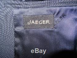 JAEGER Mens DARK BLUE SLIM FIT WOOL SUIT 46 Reg W40 L32 BNWT £349.00