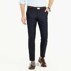 JCrew Loro Piana Slim Fit Ludlow Suit Pant In Italian Wool 43966 Deep Navy 31/32